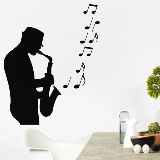 Saxophonist Musical Wall Stickers H2