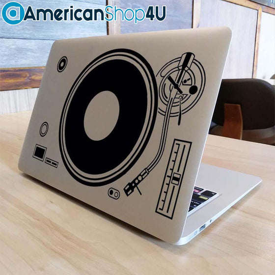 "DJ Technics Record Player Apple Macbook Decal Sticker Air Pro Retina 11"" 12"" 13"" 15'' Other Sizes"