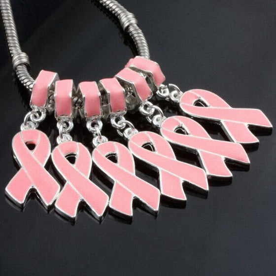 Breast Cancer 10 pieces of  Charm V1