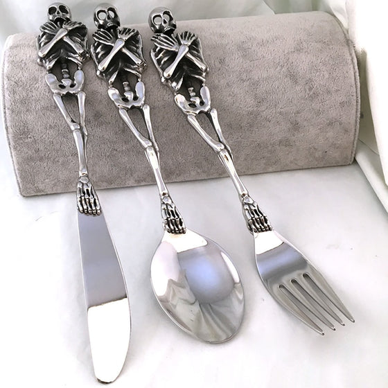 Radiologist Skull Fork/Spoon/Knife Tableware Kitchen Goods H1