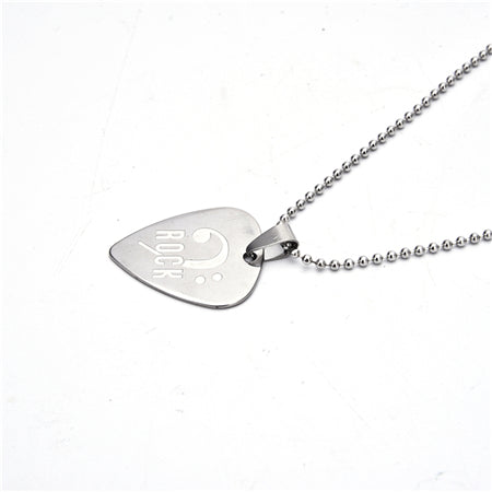 Bass Player 6 Kinds Of Necklace Pick With Stainless Steel Chain H1