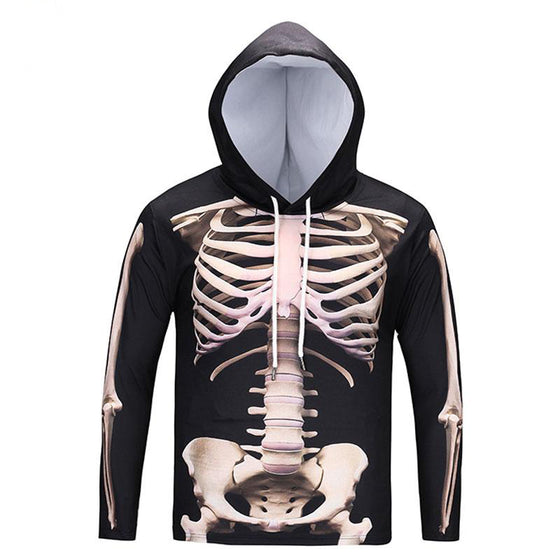 Radiologist/ Rad Tech- 3D Skeleton Long Sleeve 2 Sides T-shirt With Hat Asian Size T1