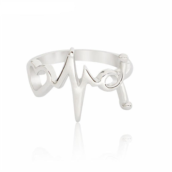 Respiratory Therapist Heartbeat Stethoscope Ring H1