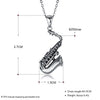 925 Sterling Silver Saxophone Necklace 3
