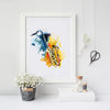 Saxophone Wall Art Print Watercolor Decoration Canvas