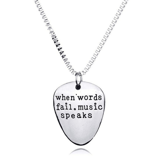 Trombone  When Words Fail Music Speaks Necklace V1