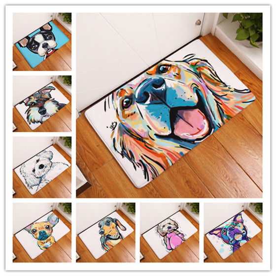 Veterinarian/ Vet Tech Cartoon Painting Dogs Floor Mat (21 Styles- 2 Different Sizes)