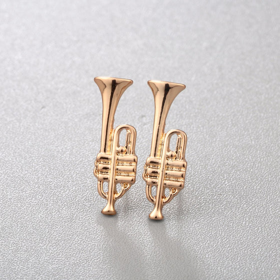 Tiny Trumpet Earrings