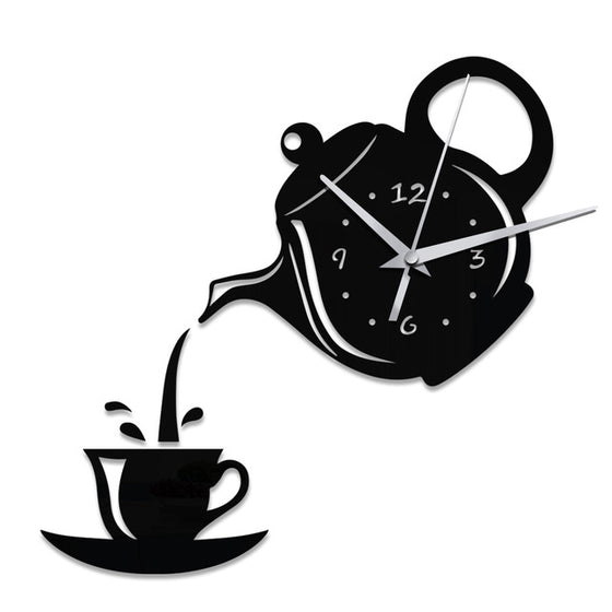 Registered Dietitian/ Nutritionist 3D Acrylic Coffee Cup Teapot Wall Clock