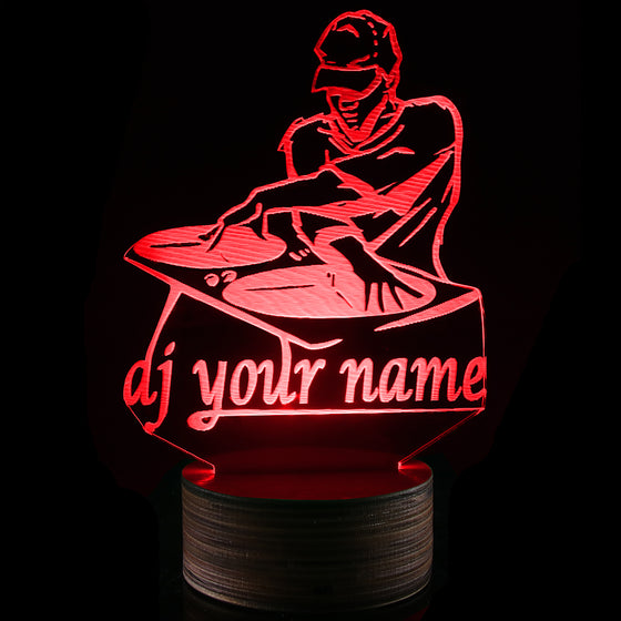 DJ Custom Name 3D Light Led Lamp Changeable Colors
