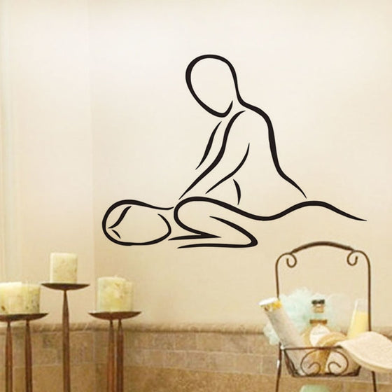 Massage Therapist- Wall Vinyl Sticker Home Decoration Woman Massage Multi colors and 3 Sizes T1
