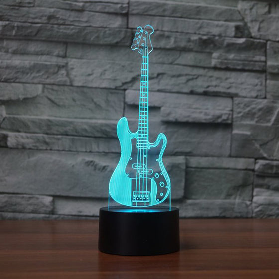3D Bass Guitar Lamp