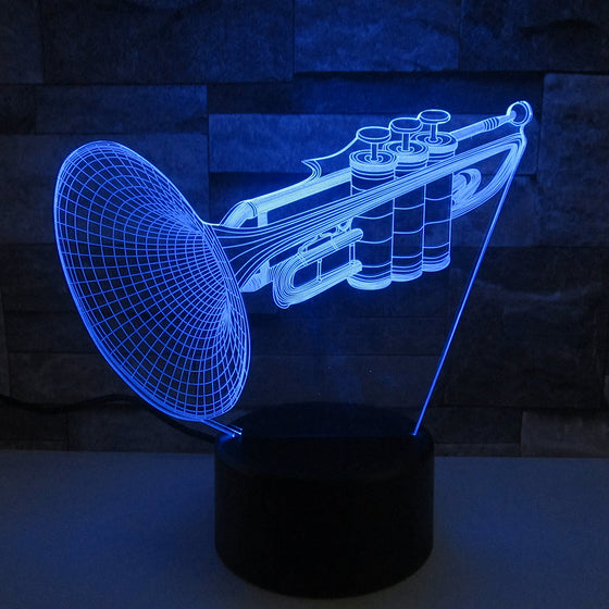 Trumpet 3D Lamp 7 Colors