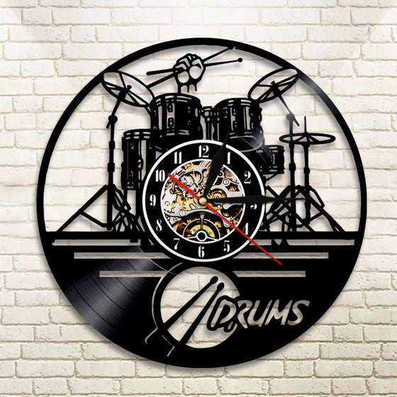 Drum Set  LED Wall Clock
