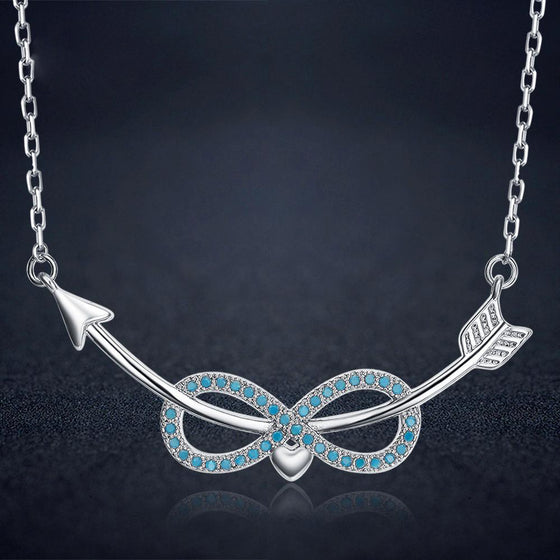 Archery Arrow Infinity Pendant Necklace H2