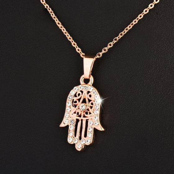Massage Therapist Hand Of Fatima Hamsa Pendant Necklace 3 Colors T1