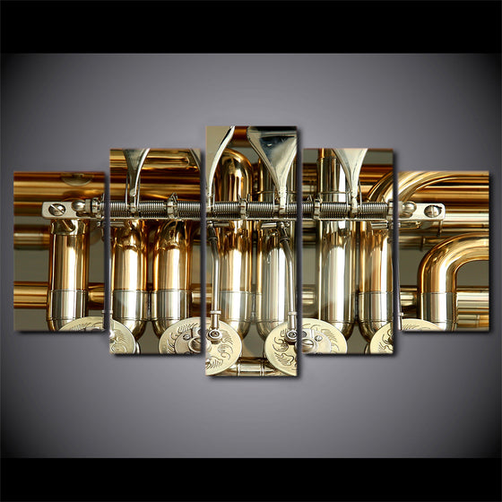 Trumpet 5 pieces of canvas art HD print