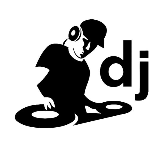 DJ In Action 10 Colors Graphics Car Stickers Decal