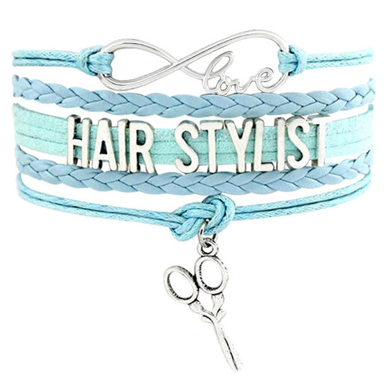 Hairstylist Infinity Love Scissors Barber Bracelets H1