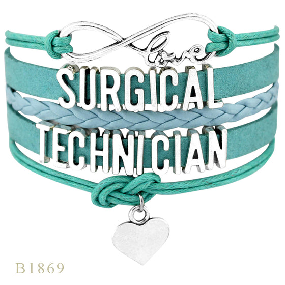 Surgical Technologist Infinity Love Charm Surgical Technician Bracelets