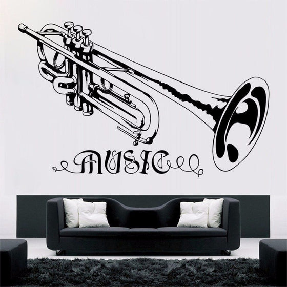 Trumpet Wall Decoration Decal
