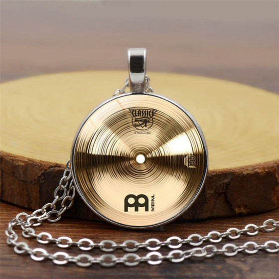 Drummer Cymbals Alloy Pendant Necklace H2