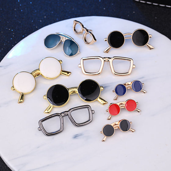 Optometrist New Enamel Pin Metal Glasses Brooch