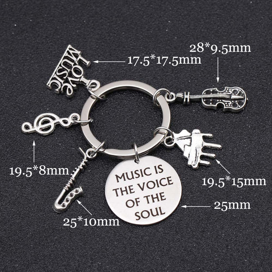 Saxophone Music Is The Voice Of The Soul Charms Keychain T1