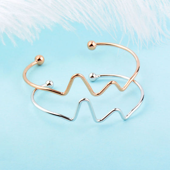 Physician Assistant Simple Heart Beat Bangle