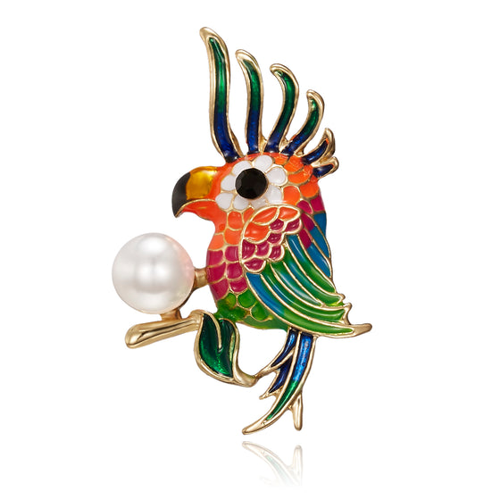 Parrot  Colorful  Brooch For Shirt V1