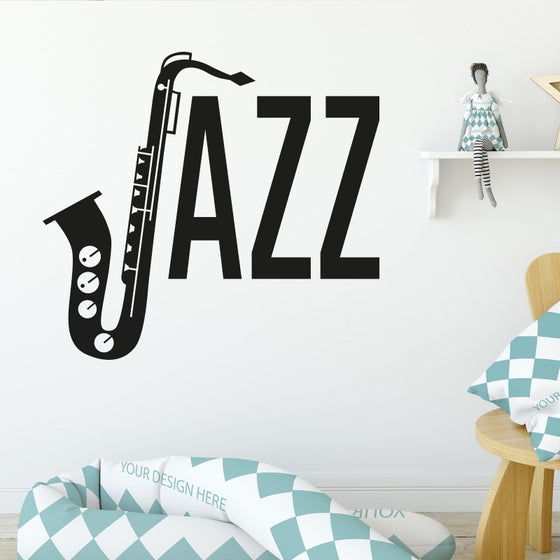 Saxophonist Musical Decoration Art Wall Sticker H2