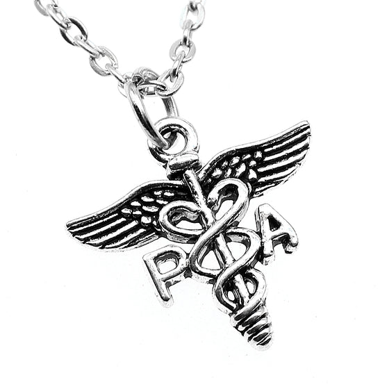 Physician Assistant Caduceus Symbol Pendant Necklace H2