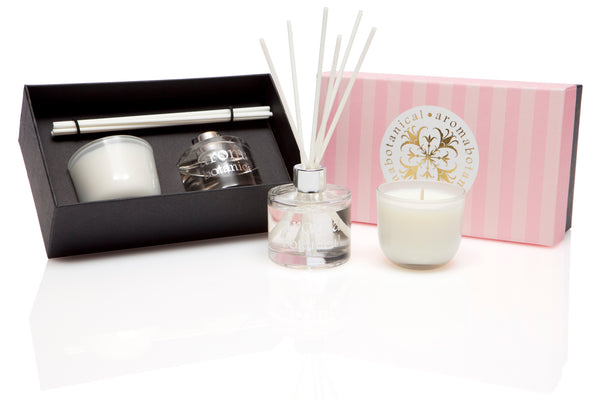 Marshmallow Rose Diffuser and Candle Gift Set