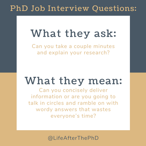 8 PhD Job Interview Questions: What They Ask vs. What They Mean