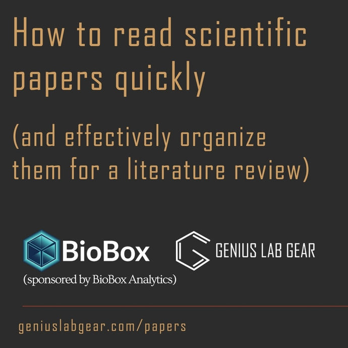 How to read scientific papers quickly (and effectively organize them for a literature review)