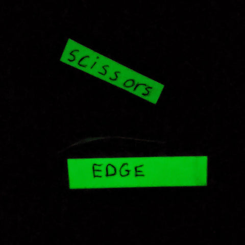 Lab Hack: Navigate the dark room using glow-in-the-dark tape