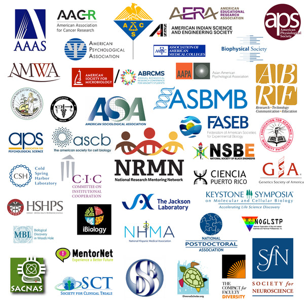 Logos of professional societies in the sciences