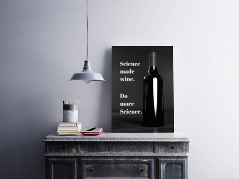 Science Made Wine Canvas Wall Art Wrap