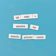 chemistry word magnets polymerization