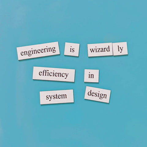 engineering word magnet gift set