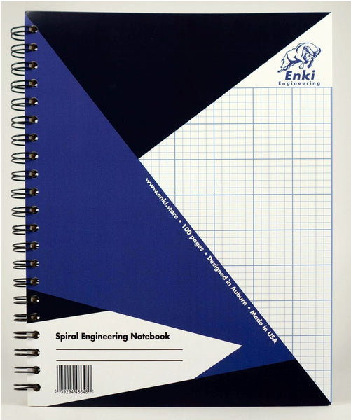 Enki Engineering spiral bound engineer notebook
