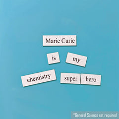 marie curie word magnet phrase
