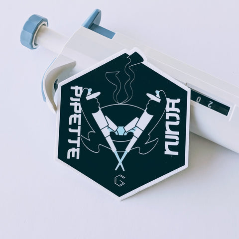 pipette ninja microbiology sticker