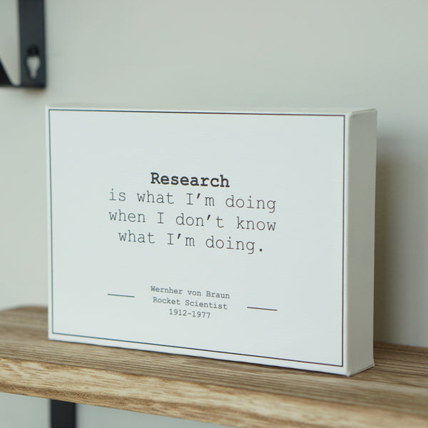 Science quote canvas