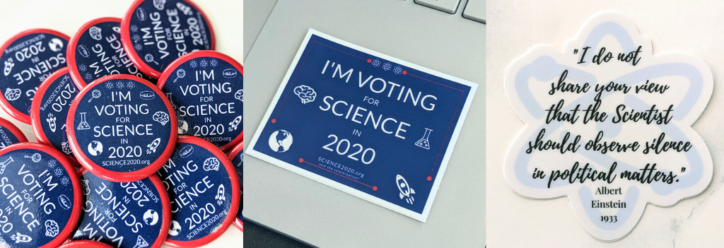 science political pins and stickers