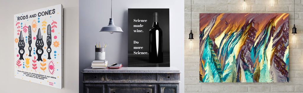 Science themed wall artwork