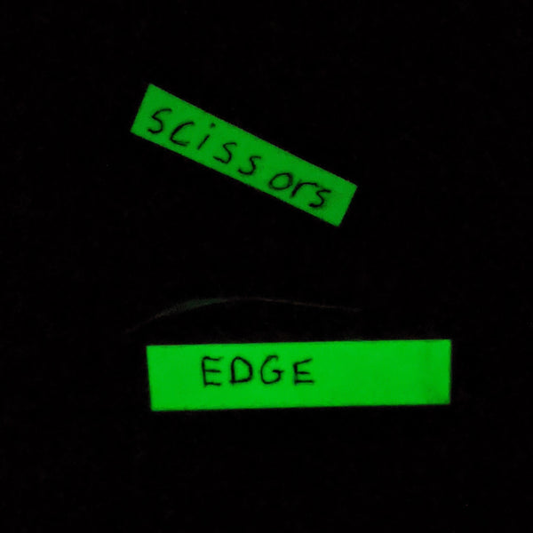 western blot dark room glow tape