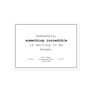 "Carl Sagan ""Something Incredible"" - Canvas Wrap (5"" x 7"")"
