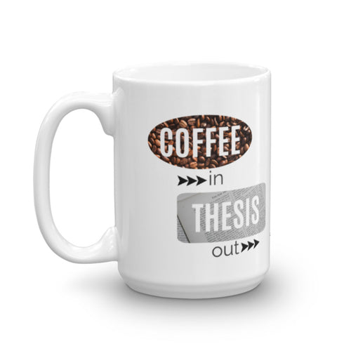 Coffee in Thesis out - Ceramic coffee mug