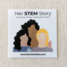 Her STEM story podcast steminist women in science sticker from herstemstory.com